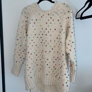 Knit top with beads